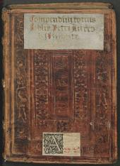 Compendiu[m] Biblie totius hoc est, Epitoma sacrae scriptur[a]e, utriusq[ue] testamenti iuxta l[itte]rale[m] sensum