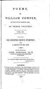 Poems, by William Cowper, in Two Volumes