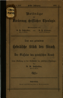 Das neu gefundene hebr  ische St  ck des Sirach PDF