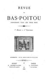 La Revue du Bas-Poitou et des Provinces de l'Ouest: Volume7