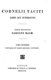 Libri qui supersunt: Historiae et libri minores. 2