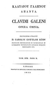 Claudii Galeni Opera omnia: Volume 11