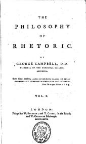 The Philosophy of Rhetoric: Volume 2