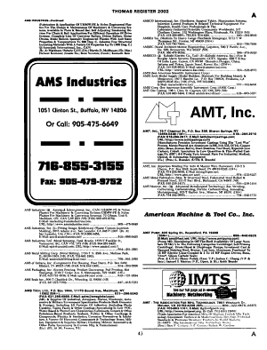 Thomas Register of American Manufacturers PDF