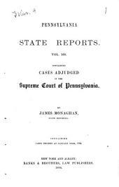 Pennsylvania State Reports: Volume 160
