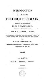 Introduction à l'étude du droit romain