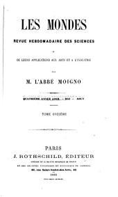 Le Cosmos; revue des sciences et de leurs applications: Volume11