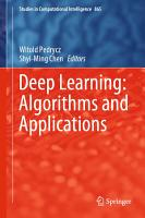 Deep Learning  Algorithms and Applications PDF