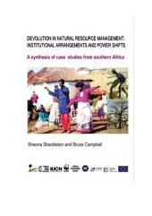 Devolution in natural resource management: institutional arrangements and power shifts: a synthesis of case studies from southern Africa