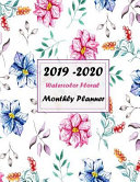 2019 - 2020 Watercolor Floral Monthly Planner