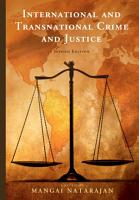 International and Transnational Crime and Justice PDF