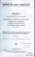 Addressing Unmet Needs in Women s Health PDF