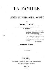 La famille: leçons de philosophie morale