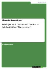 """Brüchiges Idyll, Leidenschaft und Tod in Adalbert Stifters """"Nachsommer"""""""