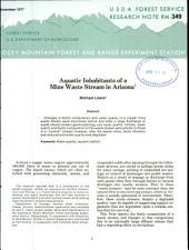 Aquatic inhabitants of a mine waste stream in Arizona