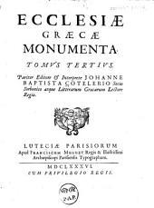 Ecclesiæ græcæ monumenta: Volume 3