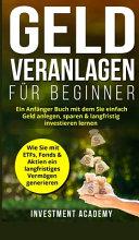 Geld Veranlagen f  r Beginner PDF