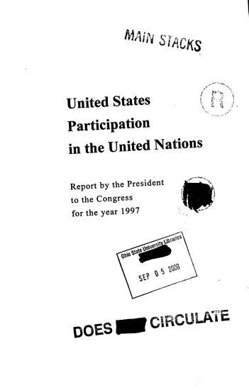 U S  Participation in the UN PDF