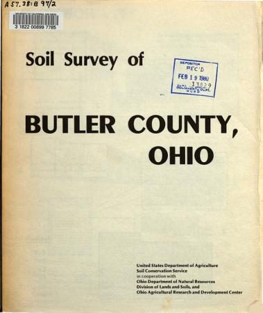 Soil Survey of Butler County  Ohio PDF