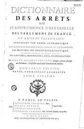Dictionnaire de jurisprudence et des arrêts
