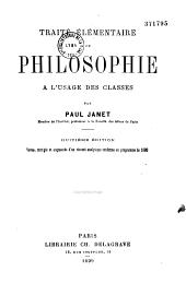 Traité de philosophie: à l'usage des classes