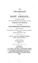 The Vocabulary of East-Anglia Etc