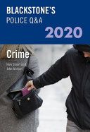 Blackstone s Police Q a 2020 Volume 1  Crime PDF