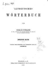Altdeutsches W  rterbuch PDF