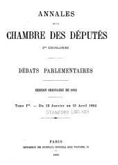 Annales: Débats parlementaires, Volume36