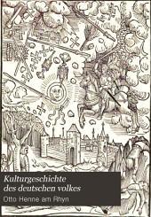 Kulturgeschichte des deutschen volkes: Band 2