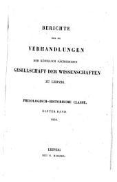 Berichte über die Verhandlungen der Königl.-Sächsischen Gesellschaft der Wissenschaften, Philologisch-Historische Klasse: Band 11