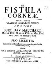 De Fistula Corneae