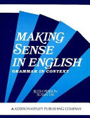Making Sense in English