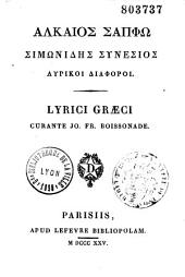 Lyrici graeci, curante Jo. Fr. Boissonade