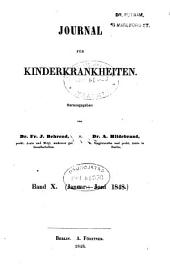 Journal für Kinderkrankheiten: Bände 10-11