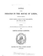 Notes of the Debates in the House of Lords: Officially Taken by Henry Elsing, Clerk of the Parliaments, 1624 and 1626, Volume 24