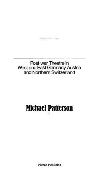 German Theatre Today