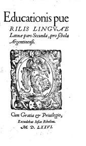 Educationis puerilis linguae Latinae pars ...: pro schola Argentina, Volume 2
