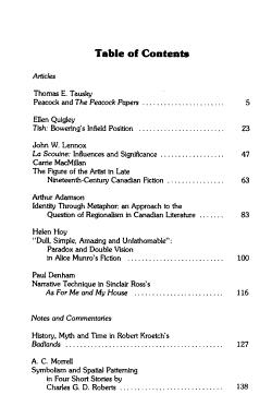 Studies in Canadian Literature PDF