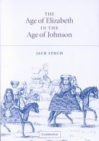 The Age of Elizabeth in the Age of Johnson PDF