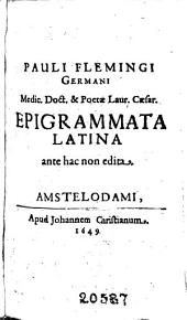 Epigrammata Latina ante hac non edita