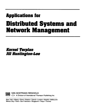 Applications for Distributed Systems and Network Management
