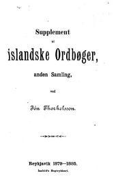 Supplement til islandske Ordbøger, 2 samling: Bindi 1-2