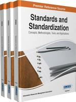 Standards and Standardization  Concepts  Methodologies  Tools  and Applications PDF