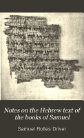 Notes on the Hebrew Text of the Books of Samuel PDF