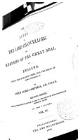 The Lives of the Lord Chancellors and Keepers of the Great Seal of England PDF