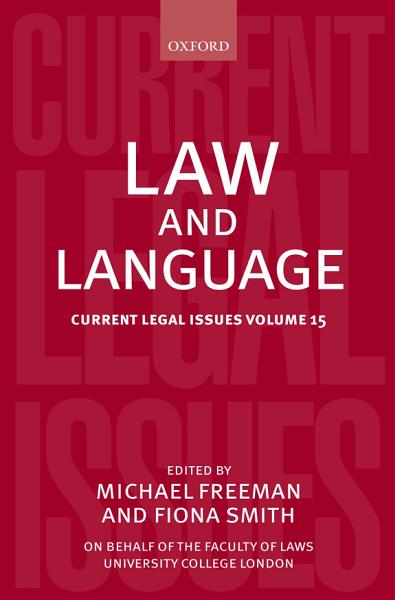 Download Law and Language Book