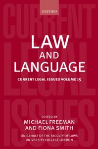 Law and Language PDF