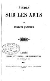 Études sur les arts: Volume2