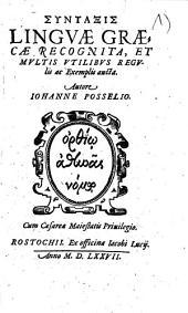 Syntaxis Lingvae Graecae